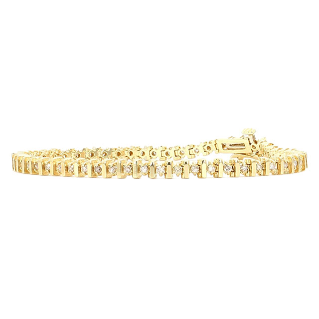 DIAMOND BRACELET- 14K YELLOW GOLD| 10 GRAMS| 1.50CT TDW| LENGTH 7""