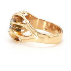 "14K YELLOW GOLD ENGAGEMENT RING| 5.2G| 1.00CT TDW| SIZE 6"""