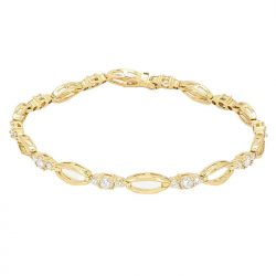 DIAMOND BRACELET- 14K YELLOW GOLD| 1.00CT TDW| 7.4G| LENGTH 7""