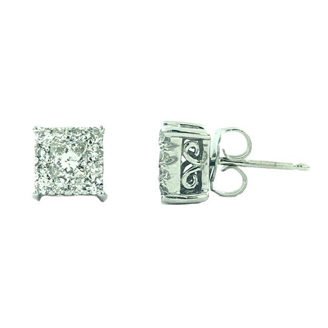 DIAMOND EARRINGS 14K GOLD|1.00CT TDW