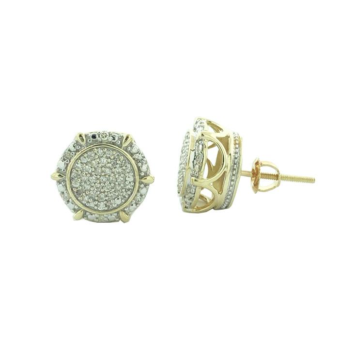 DIAMOND EARRING STUDS- 10K YELLOW GOLD| 2.9G| 1.00CT TDW
