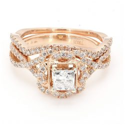 14 KARAT ROSE GOLD| 5.3G| 0.50CT(C)| 1.50CT TDW| SIZE5.75""