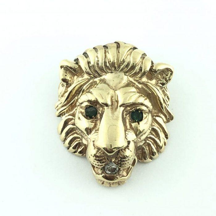 LION PENDANT/14 KARAT GOLD/5.9G