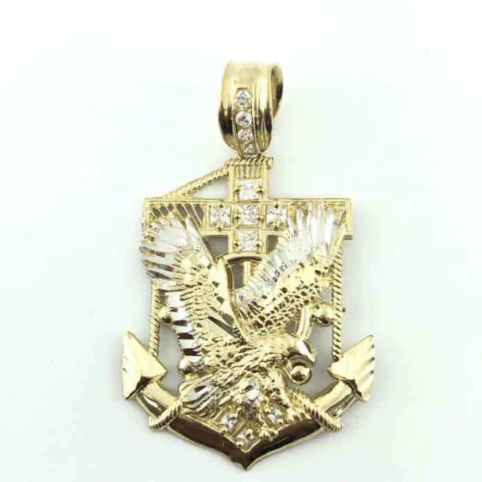 10 KARAT GOLD/8G/CUBIC ZIRCONIA