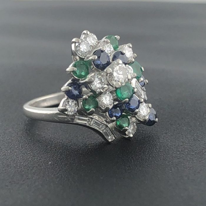 "GEMSTONE RING/8.7G/5.25"" - PLATINUM"