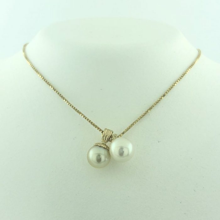 "14K YELLOW GOLD/2.6G/22"" PEARL BALL NECKLACE"