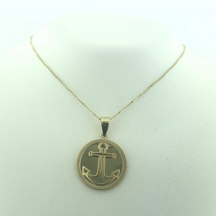 """14K YELLOW GOLD NECKLACE & PENDANT/1.8G/18"""""""
