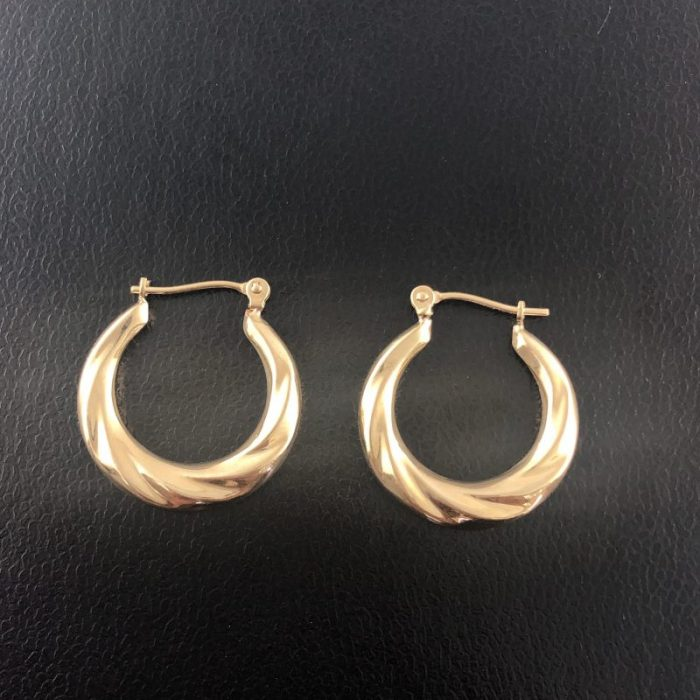 14K YELLOW GOLD EARRINGS/1.8G