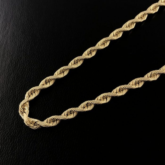 10K YELLOW GOLD ROPE NECKLACE/19.6G/22""