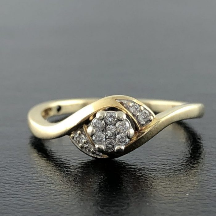 10K YELLOW GOLD ENGAGEMENT RING/6.1G/6""