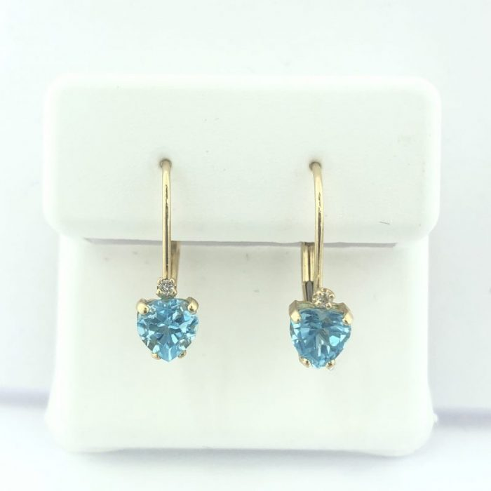 14K YELLOW GOLD EARRINGS/1.3G