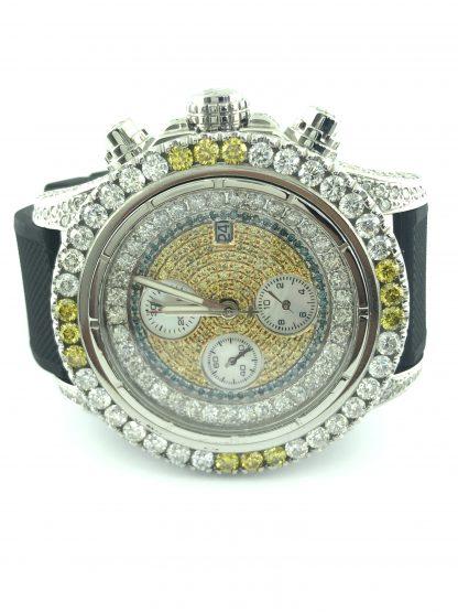 Breitling Diamond Dial Bezel A13370 Authentic Watch/20+ Carat Total Diamond