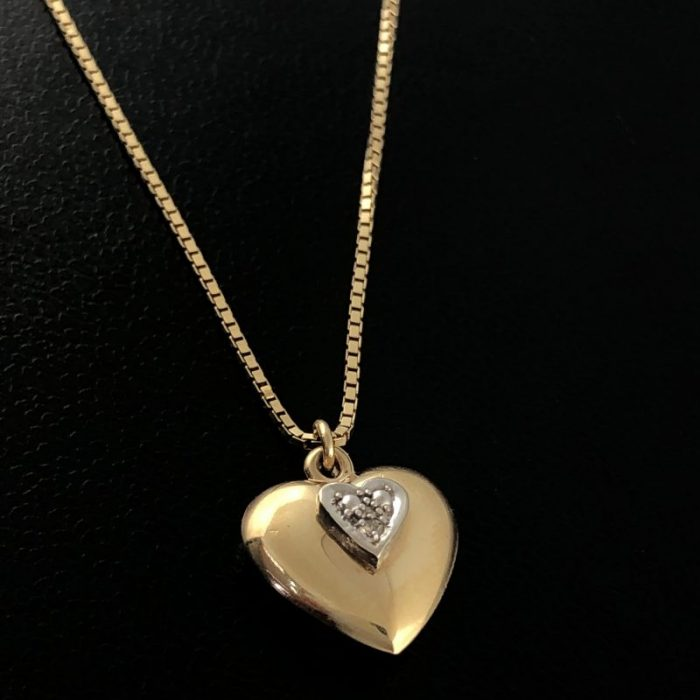 14K YELLOW GOLD/NECKLACE & PENDANT/3.4G/18""