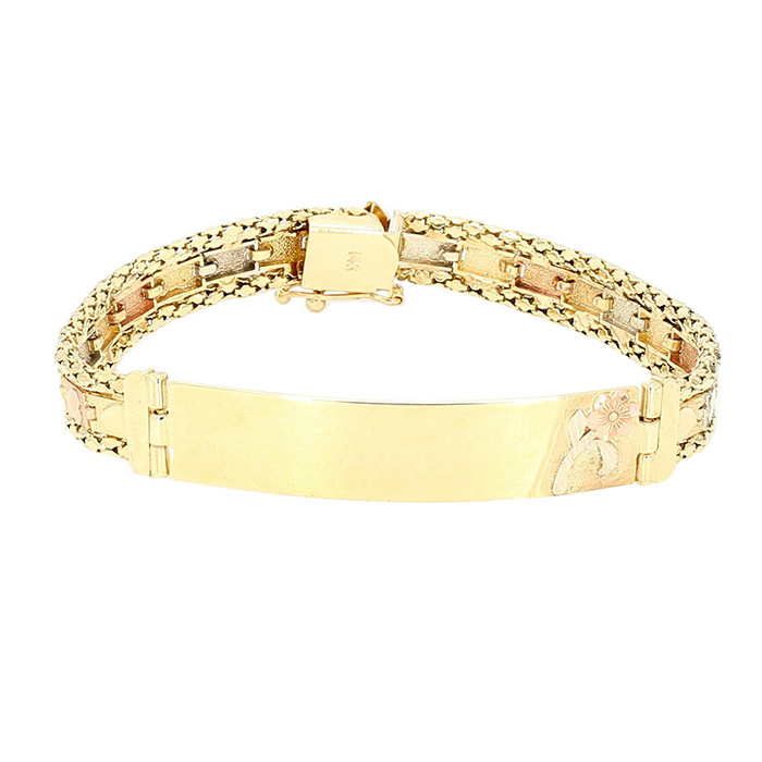 14K YELLOW GOLD BRACELET| 16.4GRAMS WEIGHT| SIZE 7""