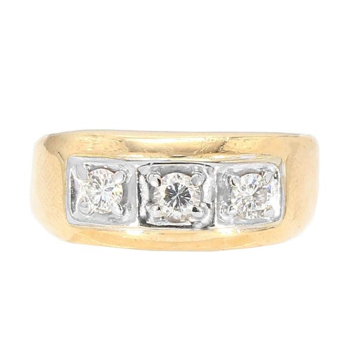 "DIAMOND BAND- 14K YELLOW GOLD| 6.20G| 0.50CT TDW| SIZE 10"""