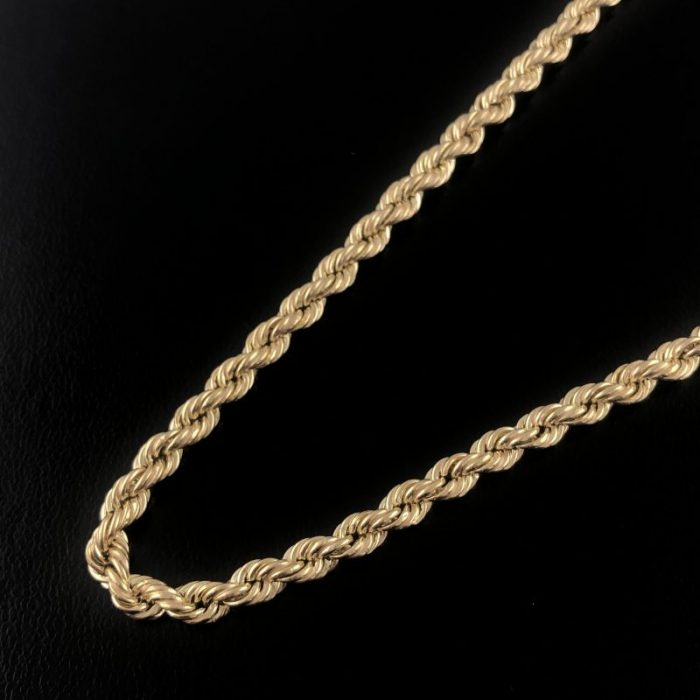 10K YELLOW GOLD ROPE NECKLACE