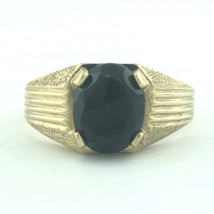 10K/ YELLOW GOLD MENS RING/3.4G/SIZE 9.50""