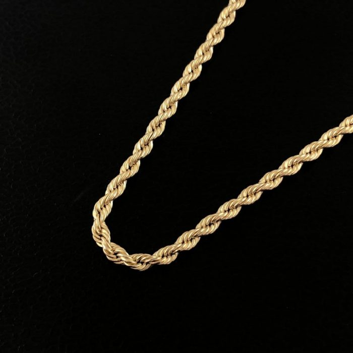 14K YELLOW GOLD ROPE NECKLACE/2.1G/20""