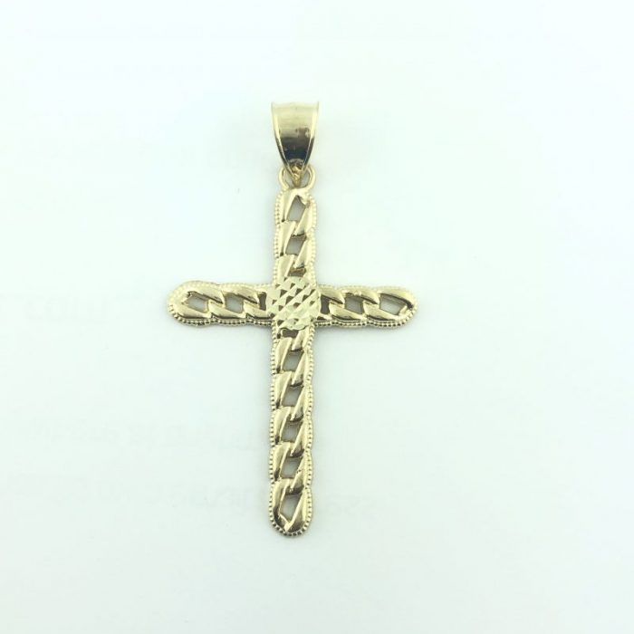 10K YELLOW GOLD CROSS PENDANT/3.9G