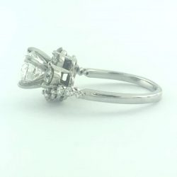 14K WHITE GOLD ENGAGEMENT RING/1.50 CARAT TDW/4.75""