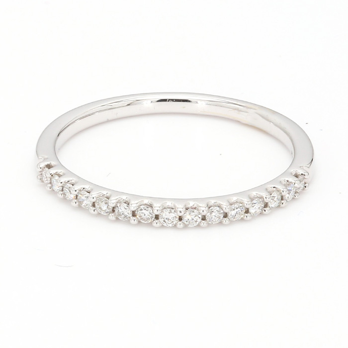 14K WHITE GOLD WEDDING BAND| 1.5G| SIZE 6.75""