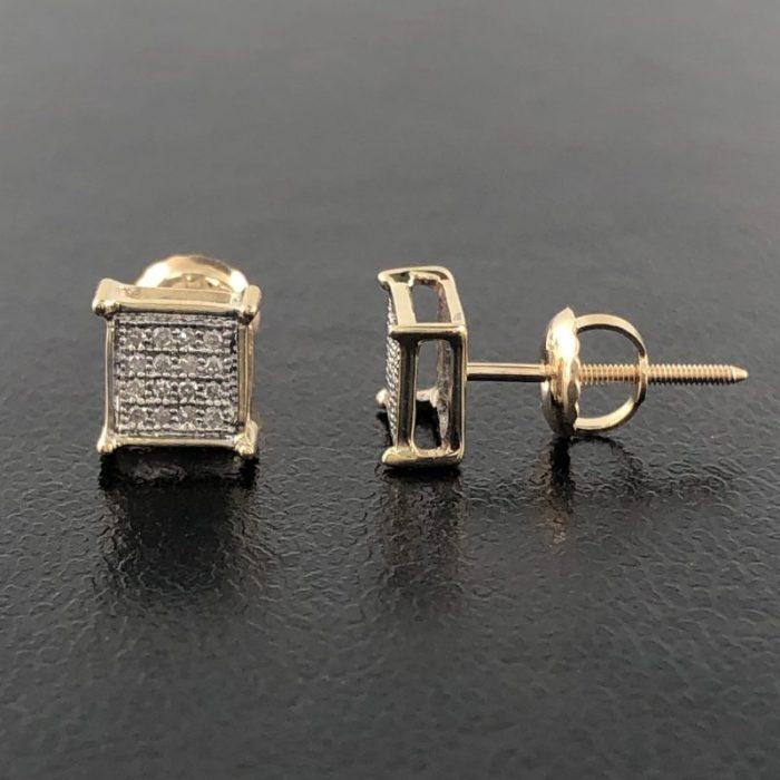 10K WHITE GOLD AND DIAMOND EARRINGS/ 1.2G
