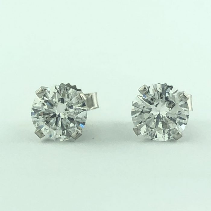 14K WHITE GOLD AND 1.30 CT TDW/COLOR:F/CLARITY: I1