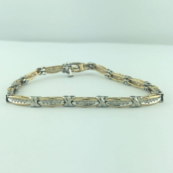 14K YELLOW GOLD DIAMOND BRACELET/10.1G/1.50CT TDW/SIZE 7.50""