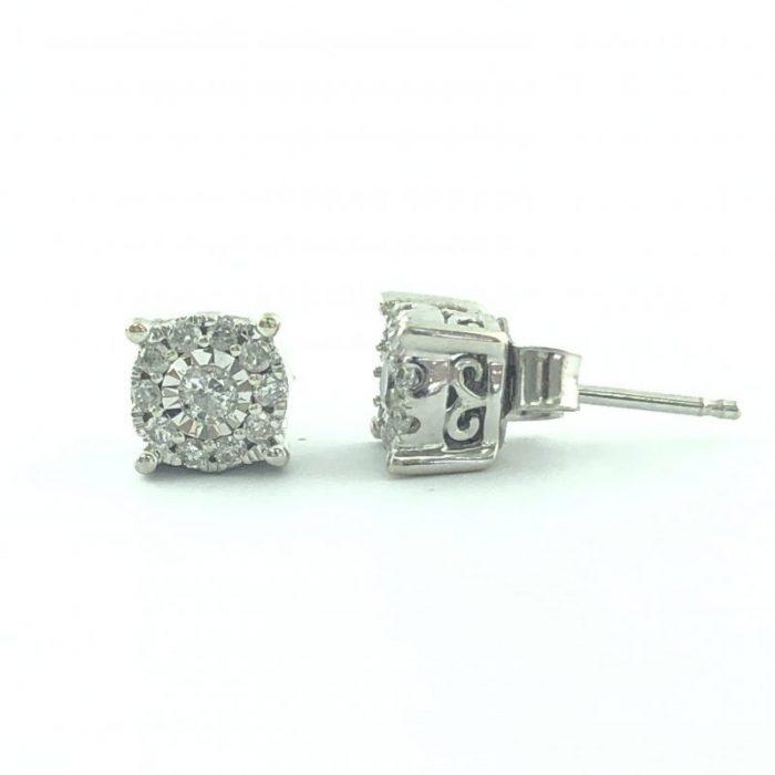 DIAMOND EARRINGS 14K WHITE GOLD/0.50 CARAT DIAMOND