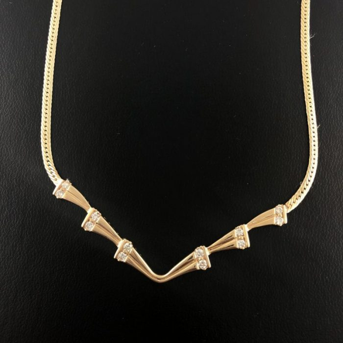 14K YELLOW GOLD NECKLACE/14G
