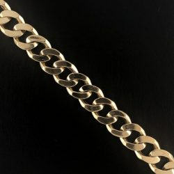"14K YELLOW GOLD CUBAN LINK BRACELET/51.4G/SIZE 8"""