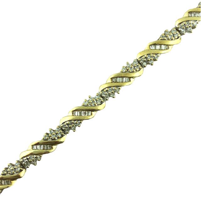 "DIAMOND BRACELET- 10K YELLOW GOLD| 8.3 GRAMS| 2.00CT TDW| LENGTH 6.50"""