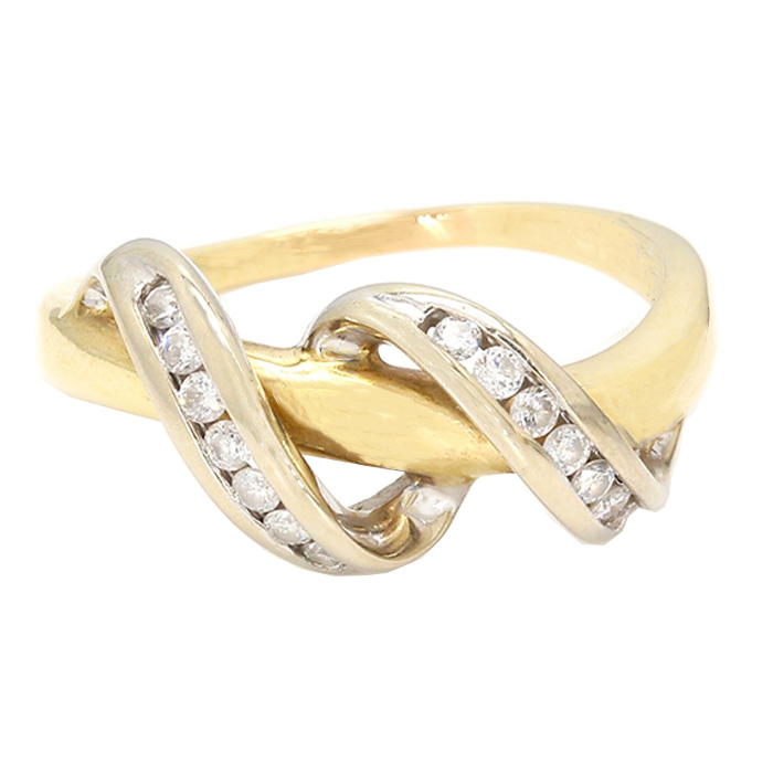 "10K YELLOW GOLD DIAMOND ENGAGEMENT RING| 2.8G| SIZE 7"""