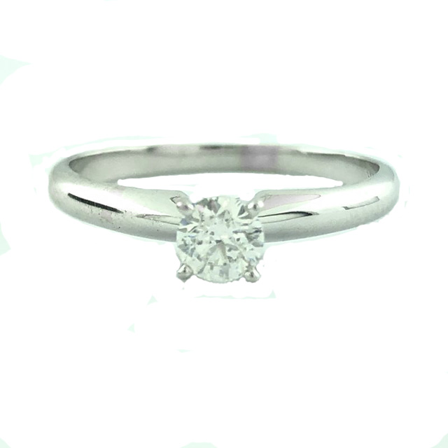 SOLITAIRE DIAMOND ENGAGEMENT RING/14K WHITE GOLD/2.0G/0.32CT TDW/SIZE 7.25""