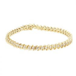 DIAMOND BRACELET- 14K YELLOW GOLD | 12.2G| 38PC 4.00CT TDW| LENGTH 7.50""