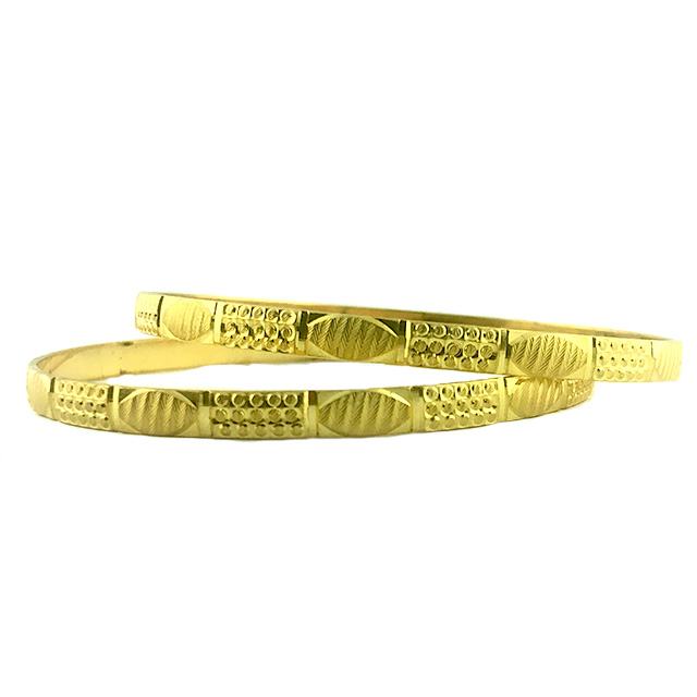 22K YELLOW GOLD BANGLES |30.3G