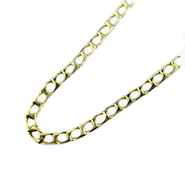 """14K YELLOW GOLD FIGARO NECKLACE/12.5G/SIZE 20"""""""