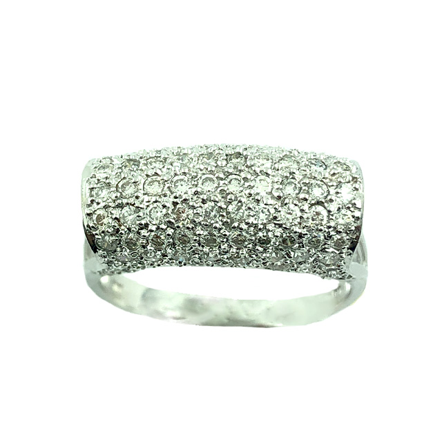 18K WHITE GOLD RING | 2.50 CT TDW |SIZE 9""