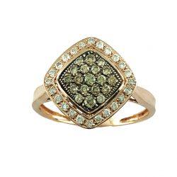 "10K ROSE GOLD DIAMOND RING | 2.3G| SIZE 6.75"""