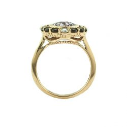 MOISSANITE RING 14K ROSE GOLD |4.2G | SIZE 7""