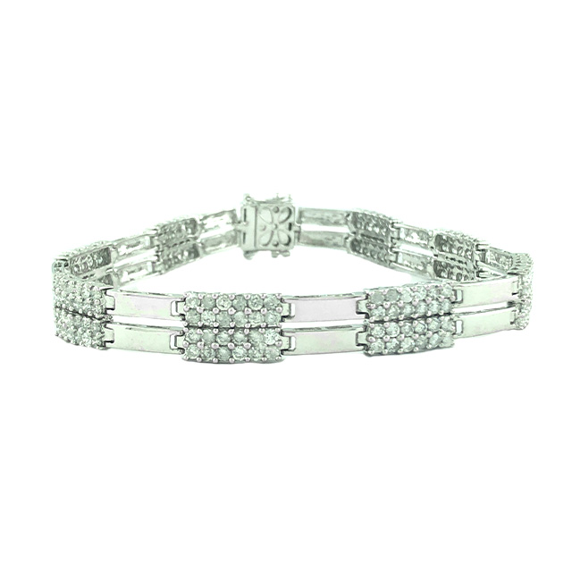 DIAMOND BRACELET 18K WHITE GOLD| 6CT TDW | SIZE 8""
