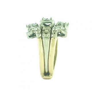 14K YELLOW/WHITE GOLD BRIDAL SET|0.30CT(C)|1.00CT TDW|SIZE 4.50""