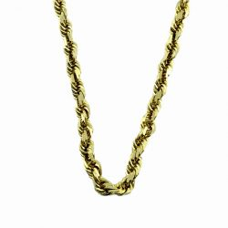 10K YELLOW GOLD ROPE NECKLACE| 5.6G|  LENGTH 23""