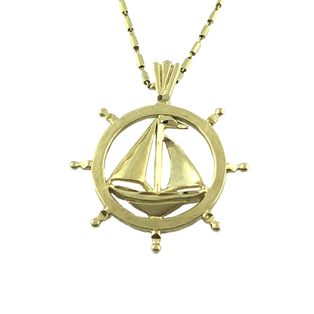 """14K YELLOW GOLD NECKLACE & PENDANT
