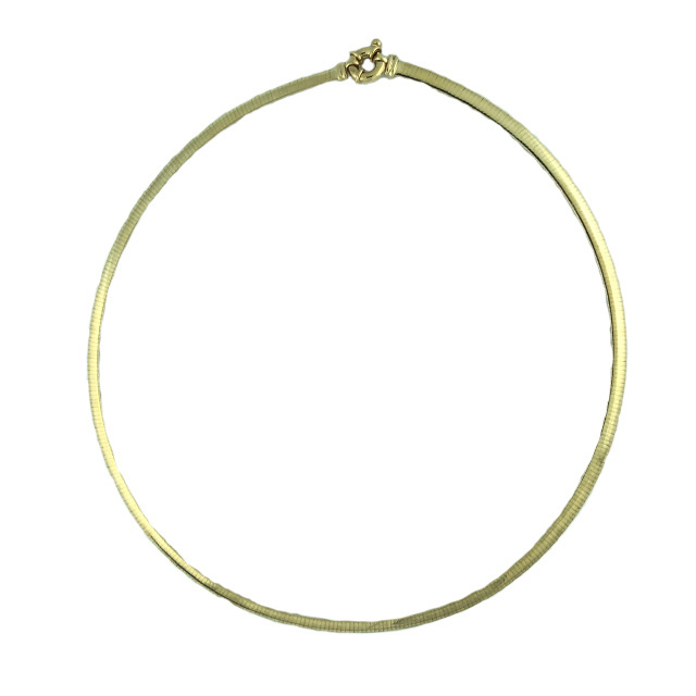 Herringbone Chain Necklace in 14K Gold| 12.9G