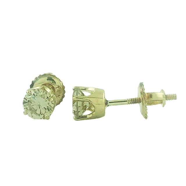 DIAMOND EARRINGS 14K YELLOW GOLD| 1.3G| 0.95CT TDW