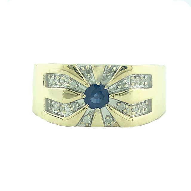 """10K YELLOW GOLD MENS RING  3.7G  SIZE 9"""""""