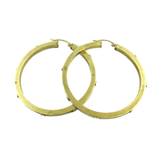 10K YELLOW GOLD HOOP EARRINGS| 5.4G
