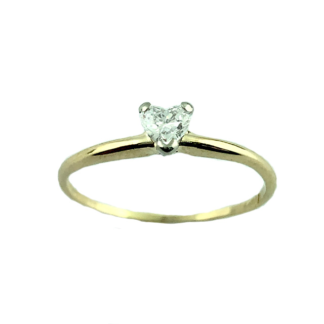 """14K YELLOW GOLD PROMISE RING 