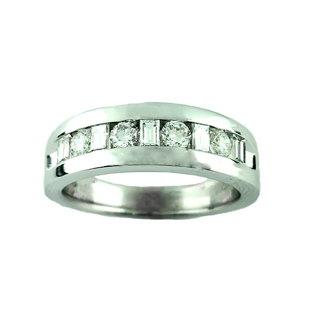 14K WHITE GOLD WEDDING BAND| 10.3G| 0.50CT TDW| SIZE 10.25""